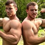 Zach Zeiler & Brother Cory Apple Crushing and Muscle Flexing