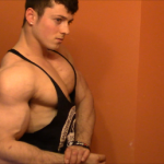 Zach Zeiler Bulked Up Upper Body Flexing
