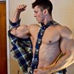 Zach Zeiler Busting Out Of Shirts & Flexing Pumped Up Muscles